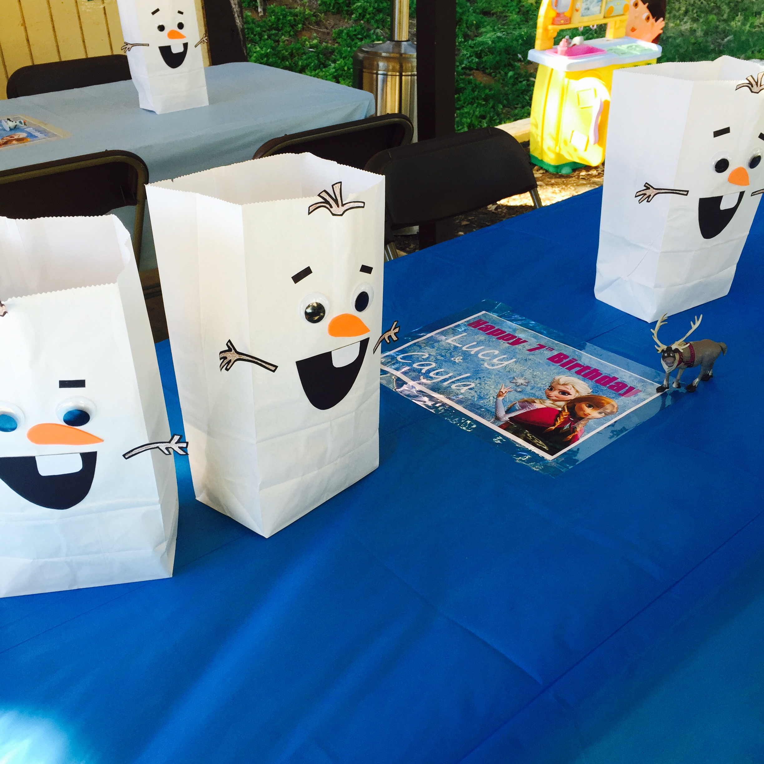 Disney Frozen Themed Birthday Party Olaf Goody Bags