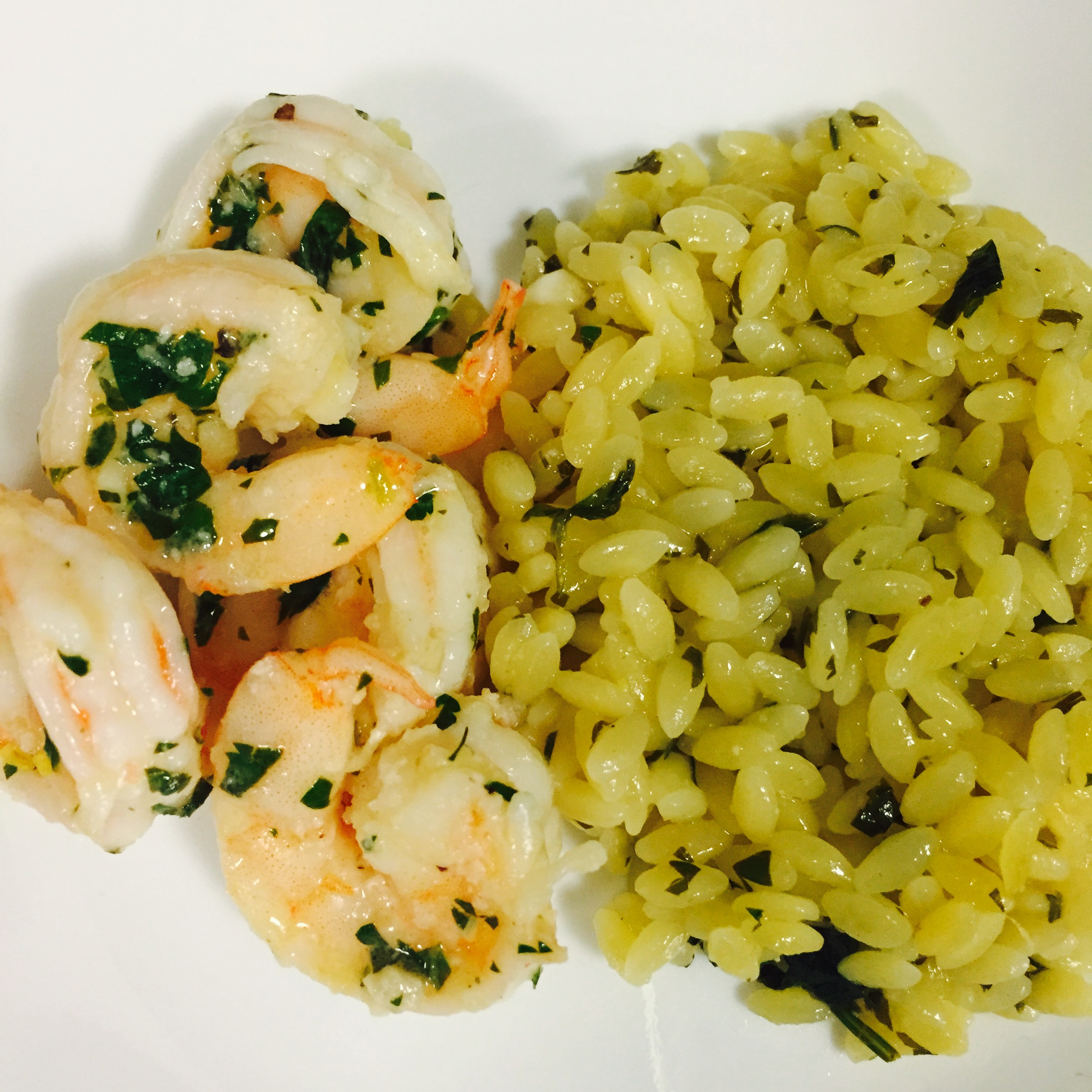 Shrimp Scamp With Lemon Orzo