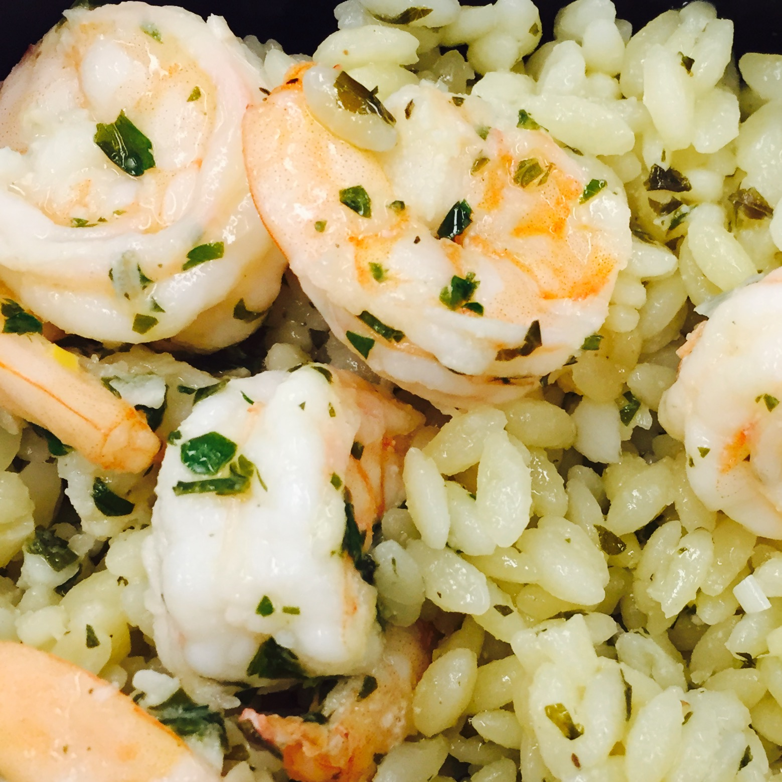 Shrimp Scampi With Lemon Orzo