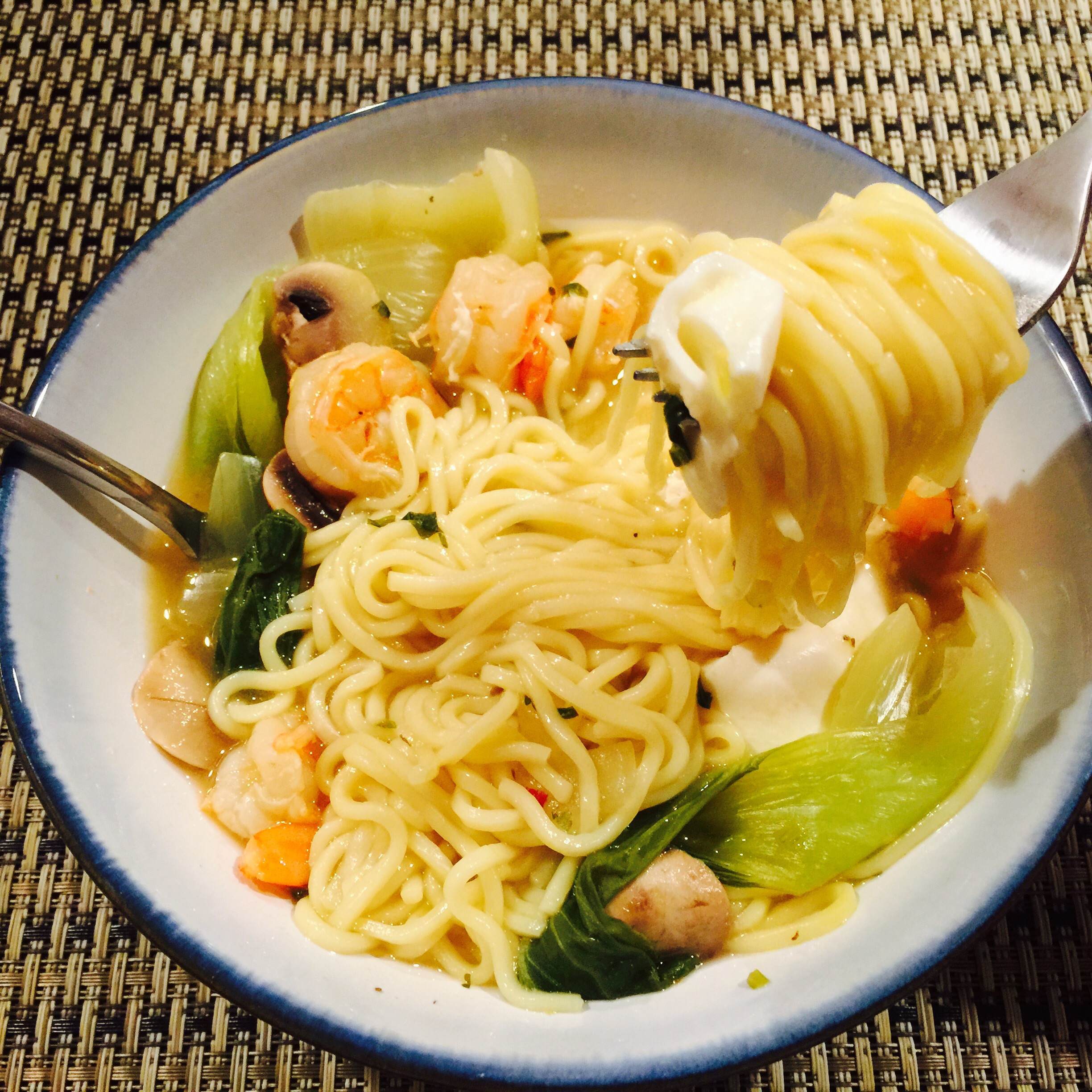 One pot meals shrimp noodle soup