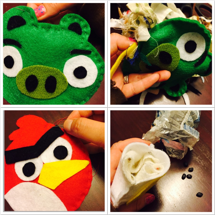 DIY Angry Birds Beanbags