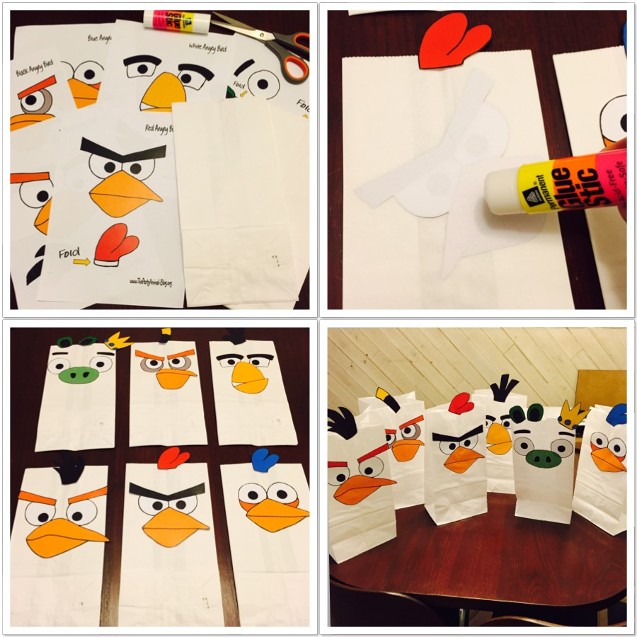 DIY Angry Birds Party Favor Bags
