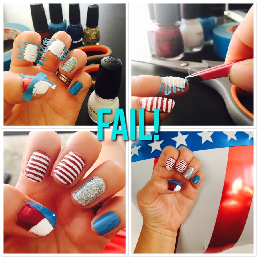 4th of July Nails FAIL