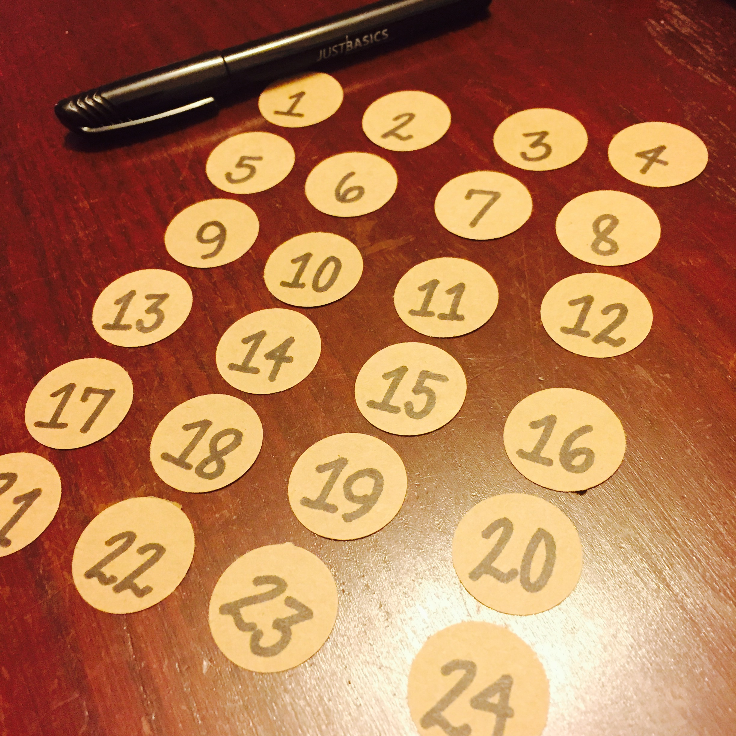 Advent Calendar Numbers