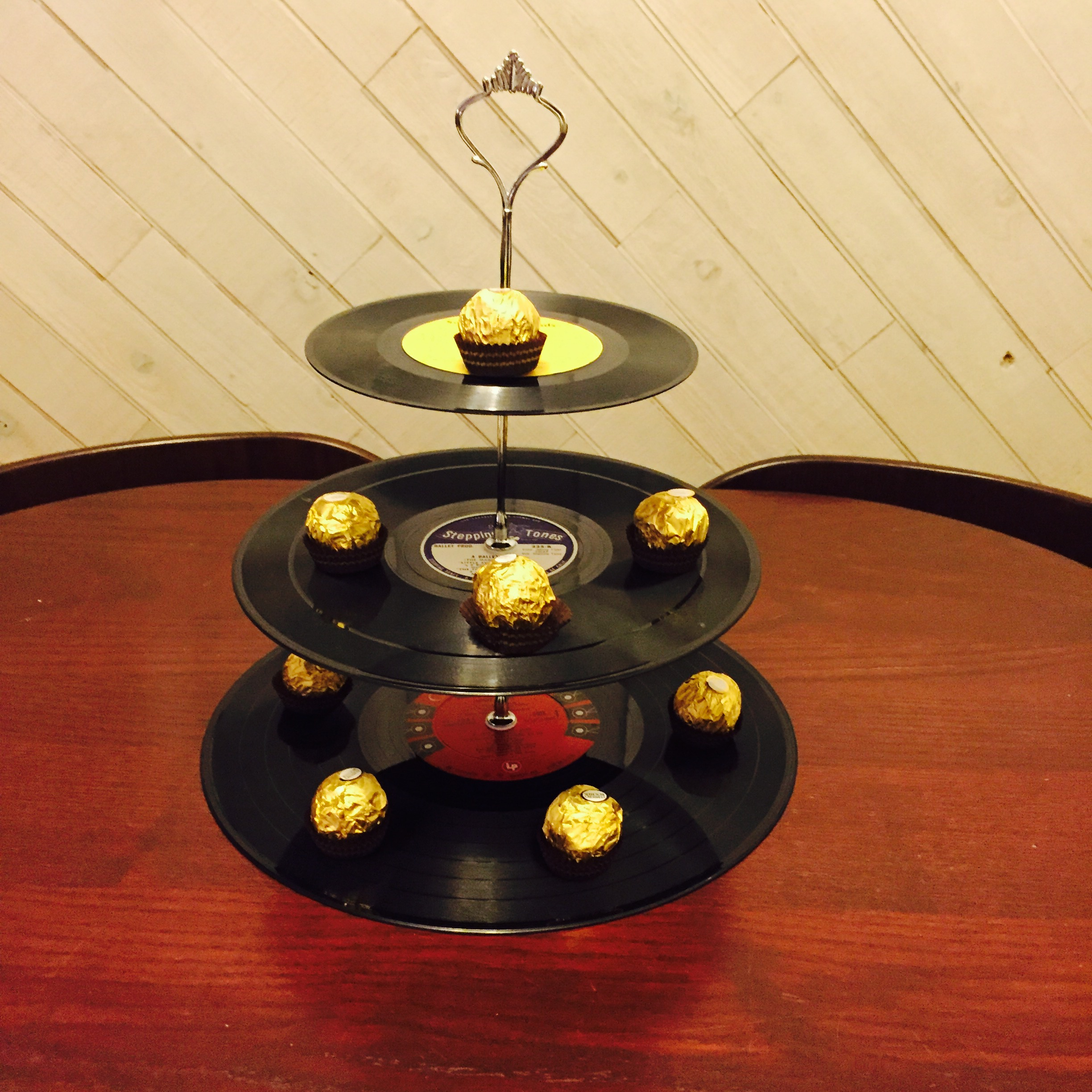 Vinyl Record Tier Cupcake Stand