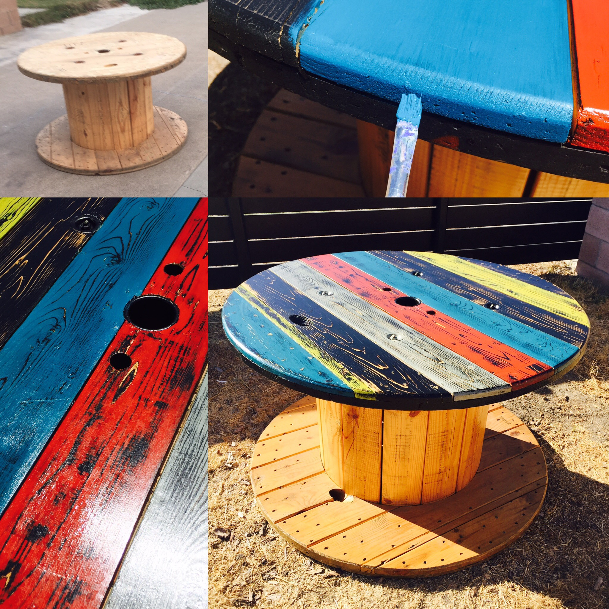 Do It Yourself Home Design: Refurbished Electrical Wire Spool Table