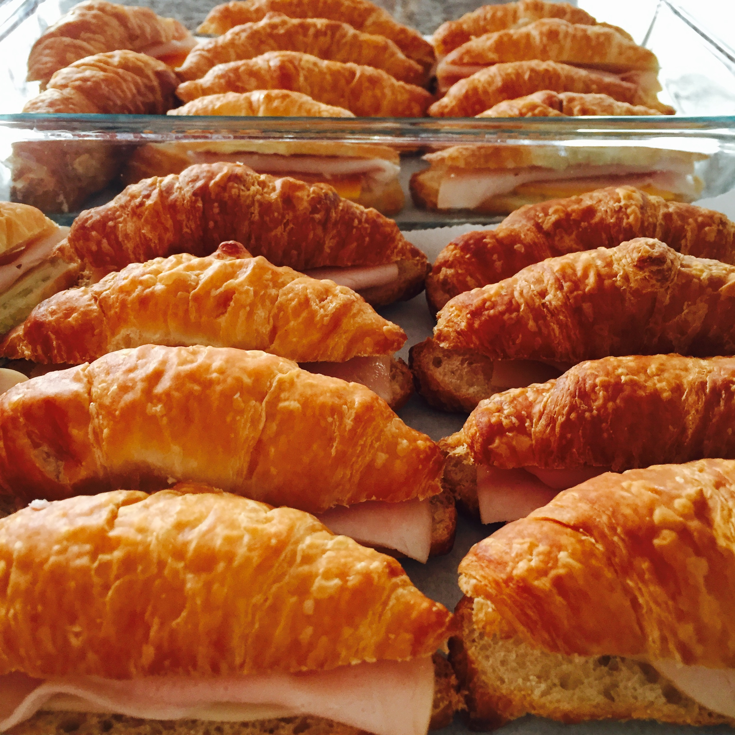 Mini Croissant Party Sandwiches