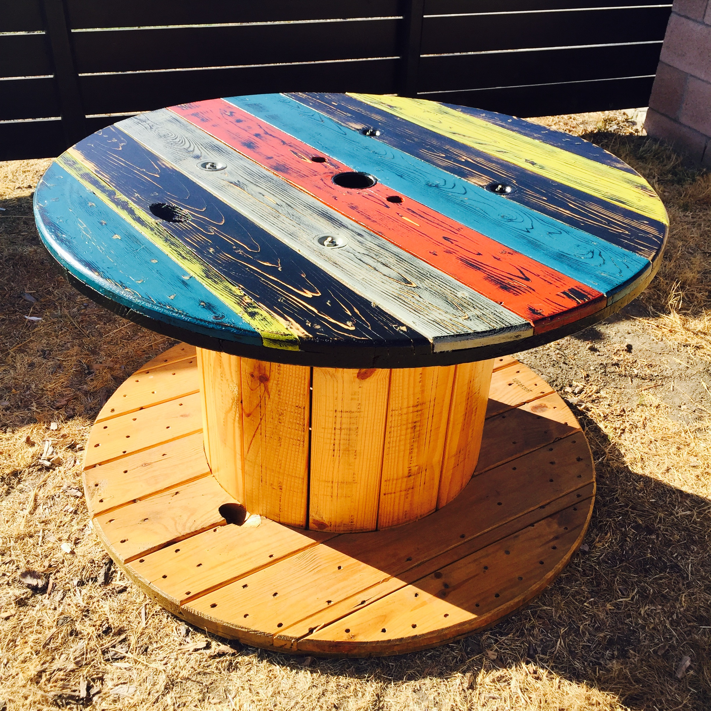 Refurbished Electric Wire Spool Table