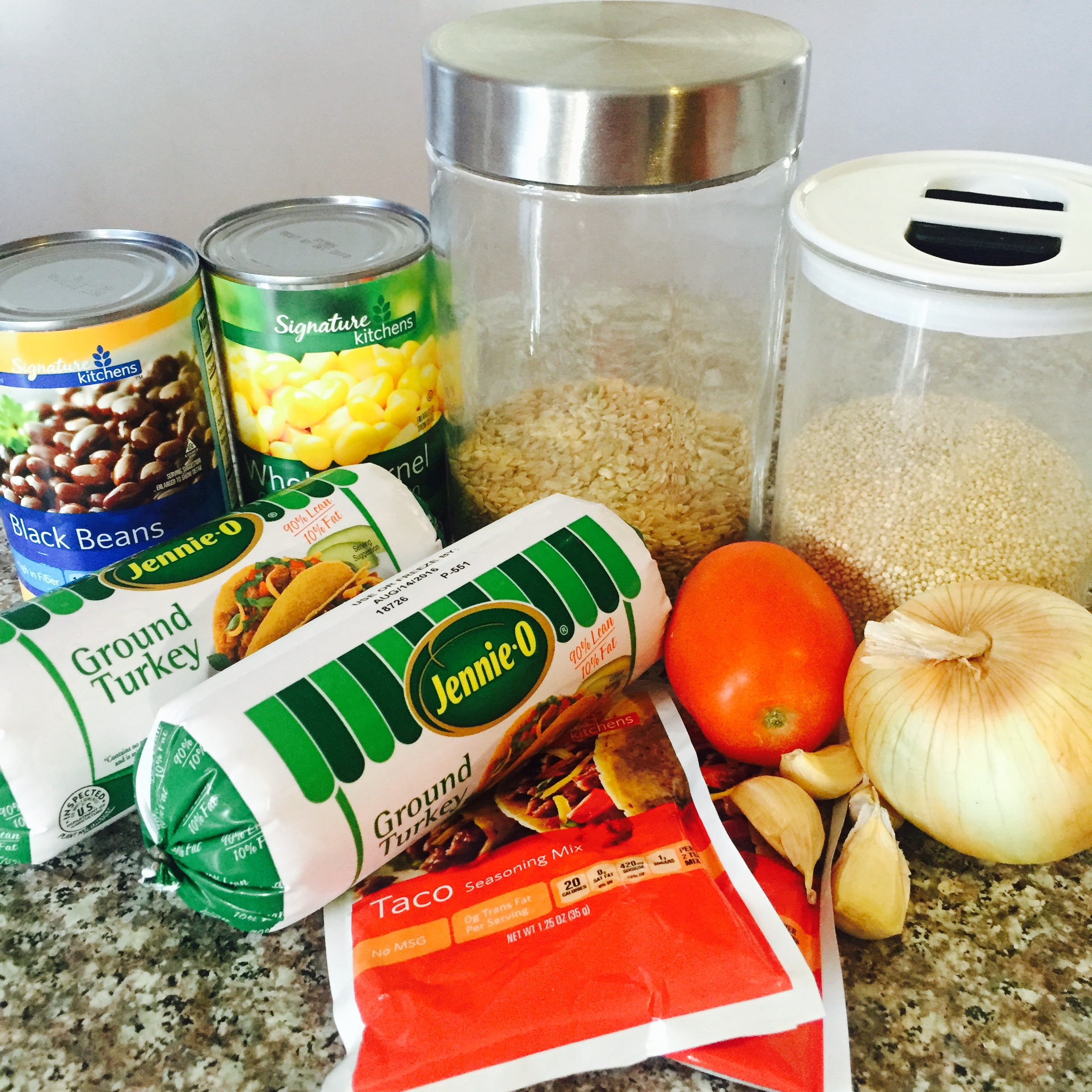 Southwester Taco Rice & Quinoa Ingredients