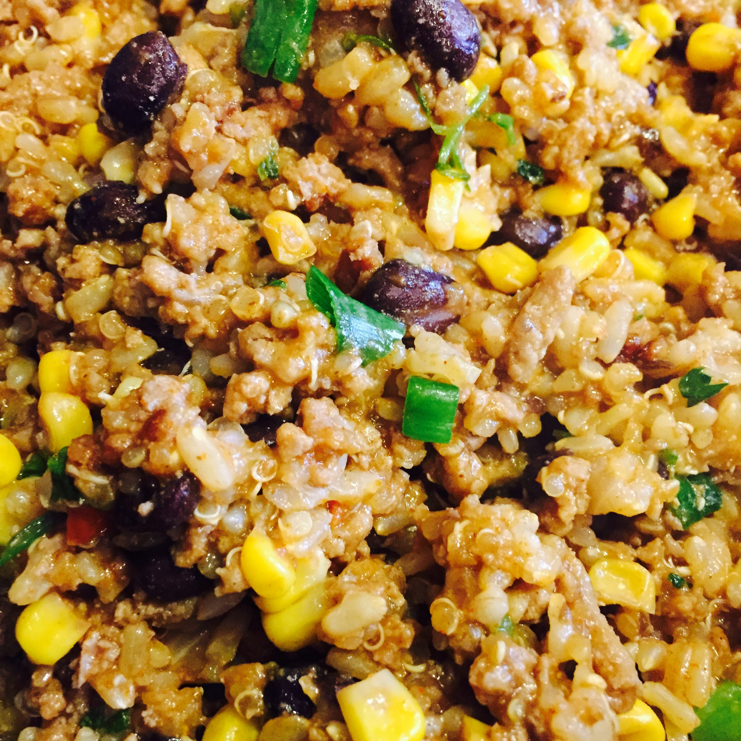 Southwestern Taco Rice and Quinoa