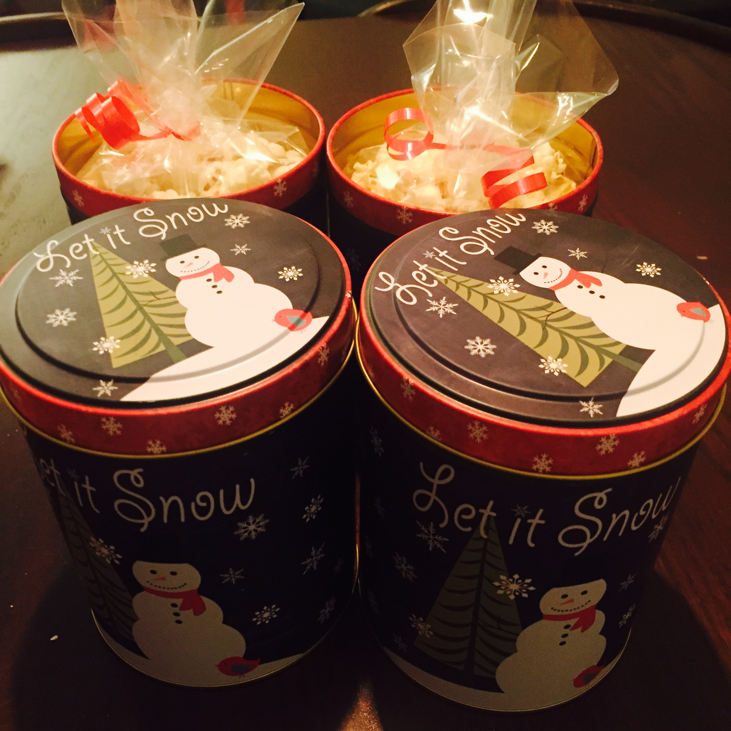 mini christmas popcorn tins the how to duo